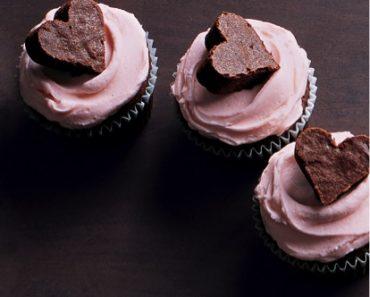 All Created - Chocolate Brownie Heart Cupcakes