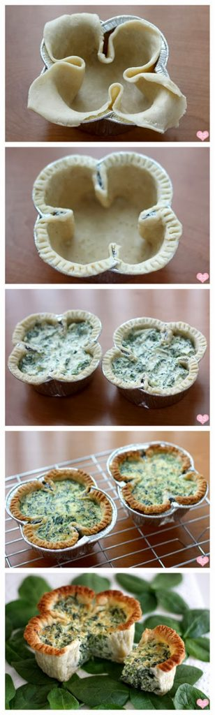 All Created - Shamrock Spinach Quiche