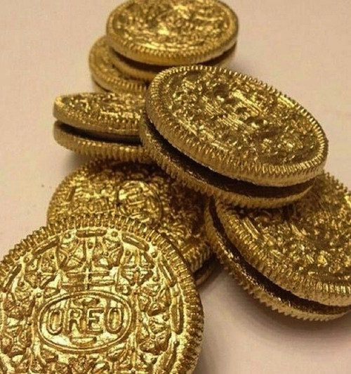 All Created - St. Patrick's Day Gold Coin Oreos