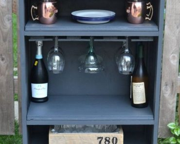 All Created - Old Dresser Into A Drink Cart