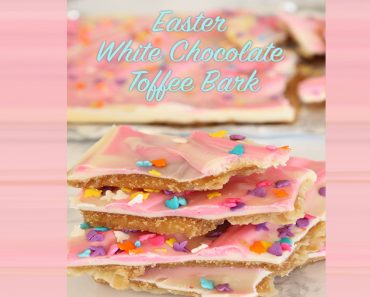 Easter White Chocolate Toffee Bark _ allcreated