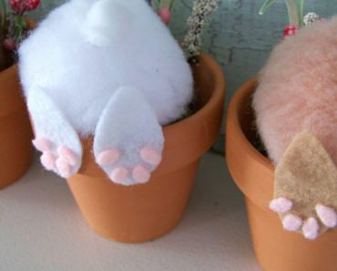 13 Cute And Thrifty DIY Easter Crafts For Your Home _ Bunny flower pot bottoms _ all created