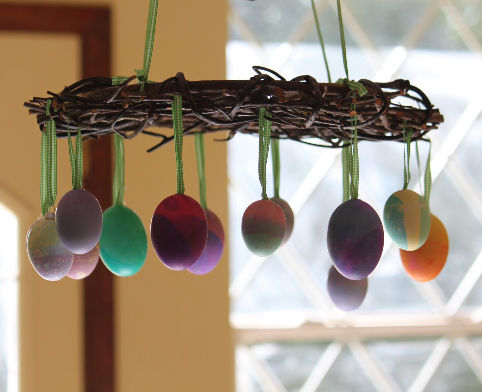 13 Cute And Thrifty DIY Easter Crafts For Your Home _ egg wreath _ all created
