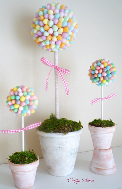 13 Cute And Thrifty DIY Easter Crafts For Your Home _ Jelly Bean Topiary _ all created