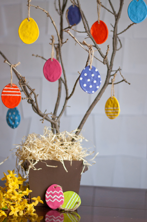 13 Cute And Thrifty DIY Easter Crafts For Your Home _ salt dough egg ornament _ all created