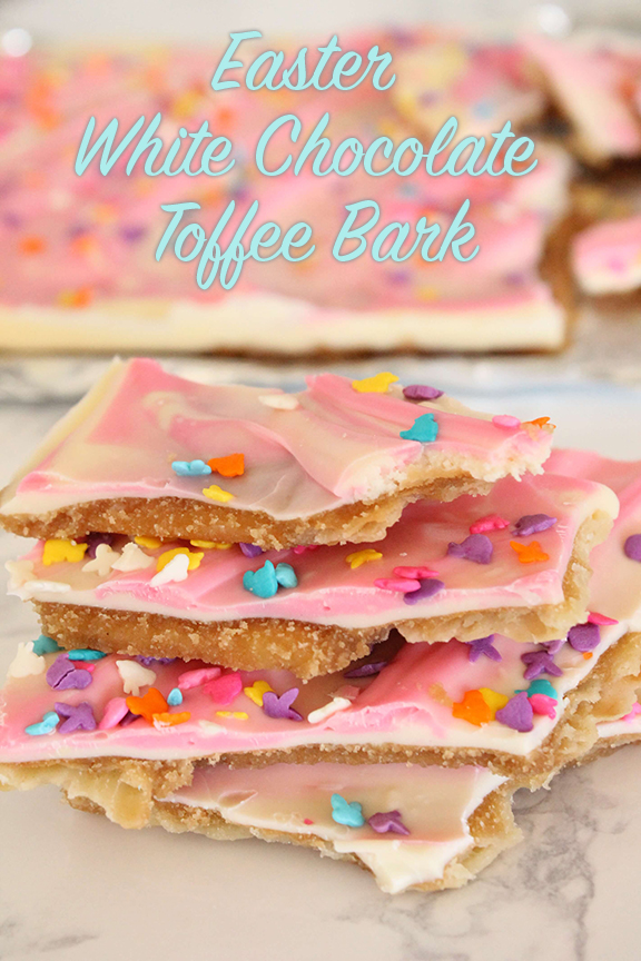 Easter White Chocolate Toffee Bark _ Candy _ Allcreated
