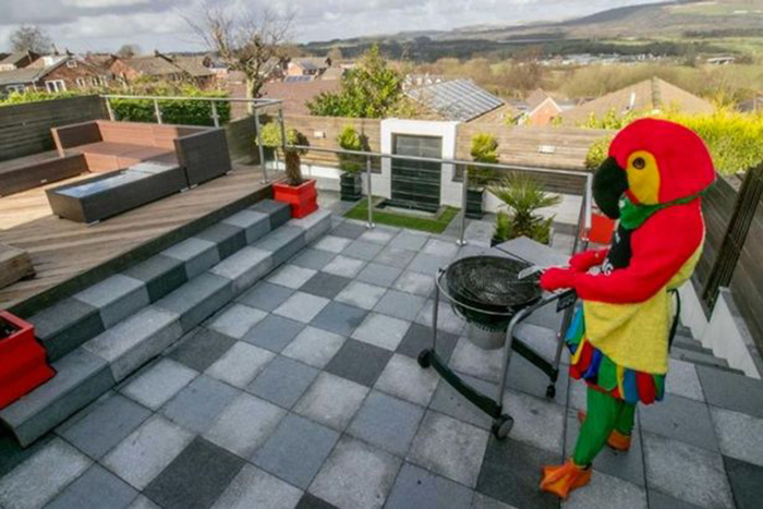 Man Dresses Up Like Parrot To Sell His House _ grill _ bbq _ patio _ all created