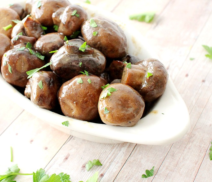 Slow Cooker Ranch Mushrooms _ food recipes _ meals _ allcreated