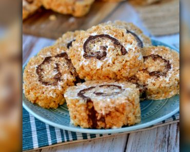 S'mores Rice Krispies Treats Combined _ recipe _ marshmallow _ chocolate _ allcreated