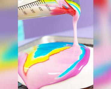 all created - tie dye cake glaze