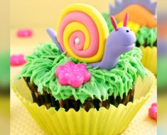 allcreated - snail cupcake toppers