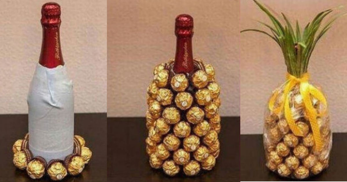 Wine And Chocolate Pineapple Hack Is The Perfect Hostess Gift