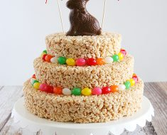 All Created - Easter Rice Krispies Treat Cake