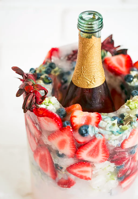 allcreated - flower and berry frozen diy ice bucket