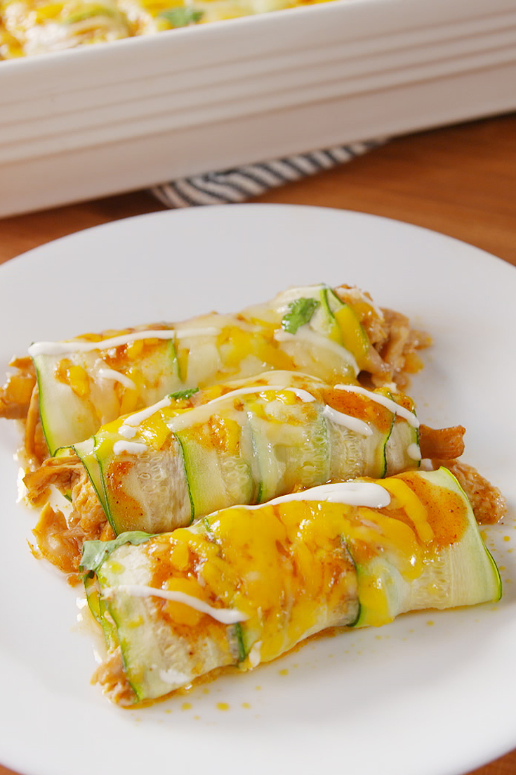 Low-Carb Zucchini Enchiladas Will Make Your Mouth Water