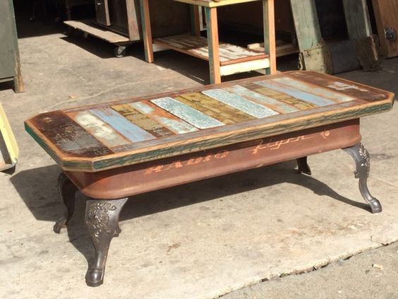Upcycled Red Wagon Coffee Table - AllCreated