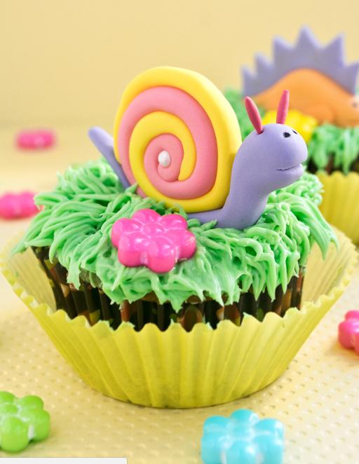 allcreated - snail cupcake topper