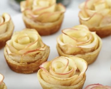 Beauty & The Beast Inspired Apple Pie Rose Pastries _ all created