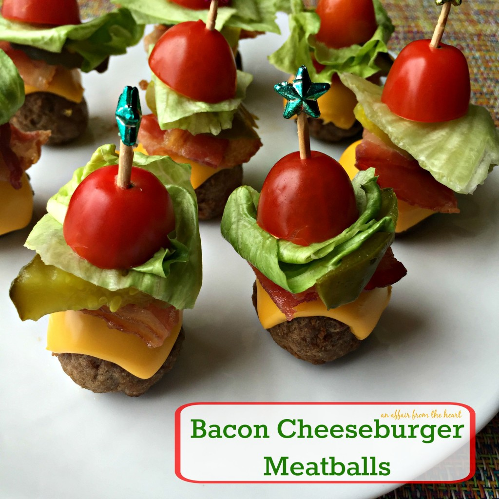 Bacon Cheeseburger Meatball Skewers Are Party Perfect With