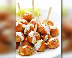 Buffalo Chicken Meatballs Bring Flavor To The Party _ all created