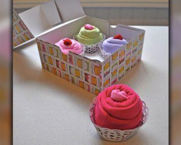Cupcake Onesie Baby Shower Gift _ all created