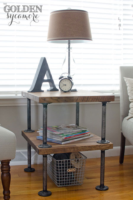DIY Industrial Pipe Projects _ end table _ all created