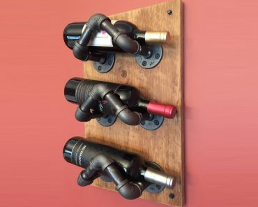 DIY Industrial Pipe Projects _ wine rack _ all created