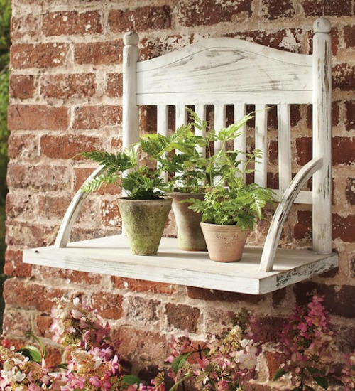 10 DIY Hacks to Give New Life to Old Furniture _ chair plant shelf _ all created