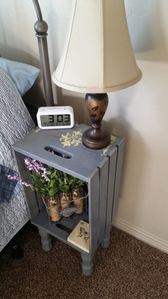 10 DIY Hacks to Give New Life to Old Furniture _ crate end table _ all created
