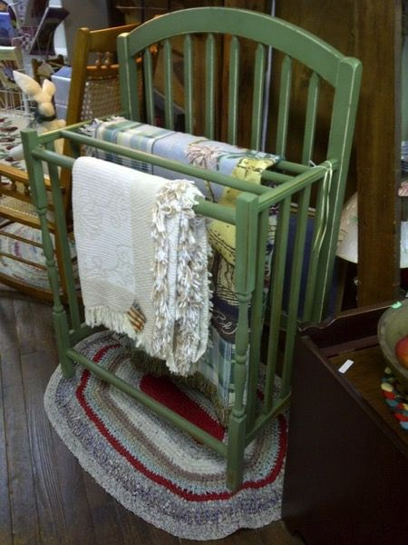 10 DIY Hacks to Give New Life to Old Furniture _ quilt rack _ all created