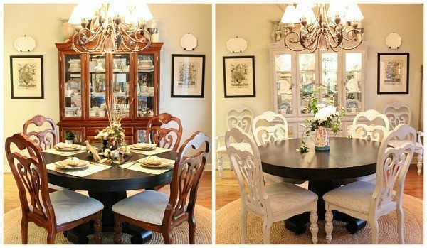10 DIY Hacks to Give New Life to Old Furniture _ dining room set _ all created