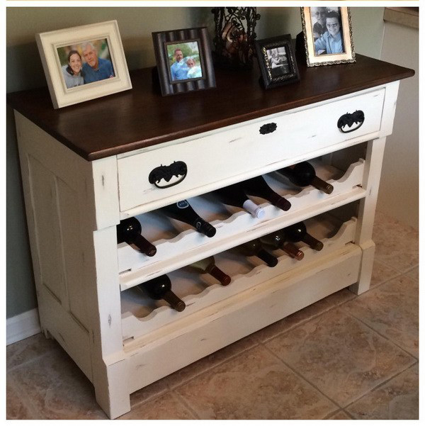 10 DIY Hacks to Give New Life to Old Furniture _ wine rack _ all created