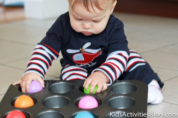 13 Brilliant Ways to Repurpose Your Ordinary Muffin Tin _ baby activity _ all created