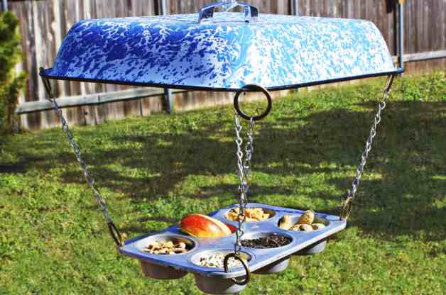 13 Brilliant Ways to Repurpose Your Ordinary Muffin Tin _ outdoor bird feeder _ all created