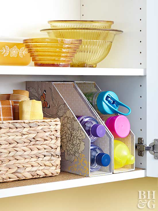 Wallet-Friendly Hacks to Organize Your Kitchen _ water bottles _ allcreated