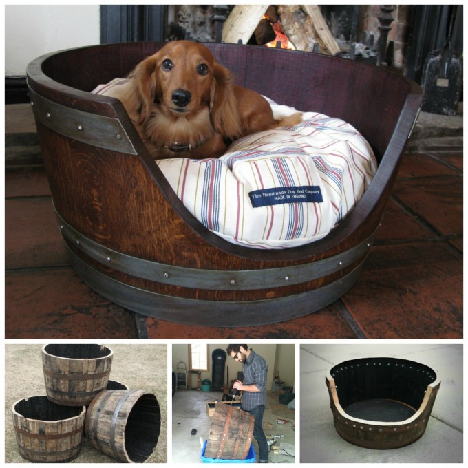 7 Creative Ways To Turn Old Furniture Into Adorable Pet Beds _ dog barrel _ all created
