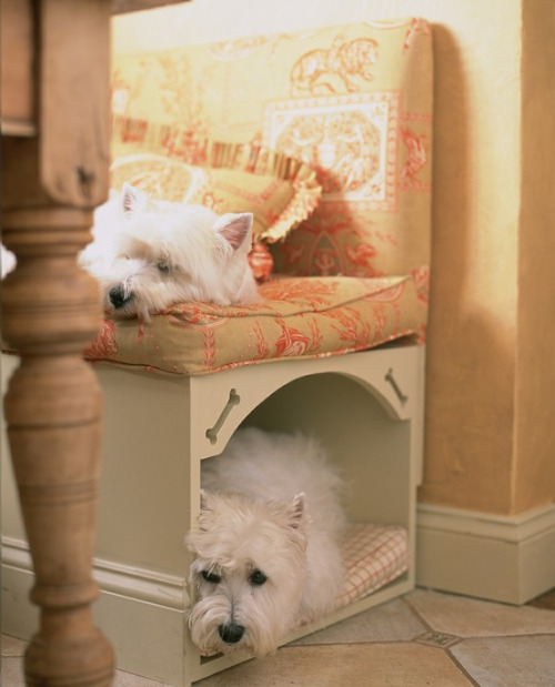 7 Creative Ways To Turn Old Furniture Into Adorable Pet Beds _ dog bench _ all created