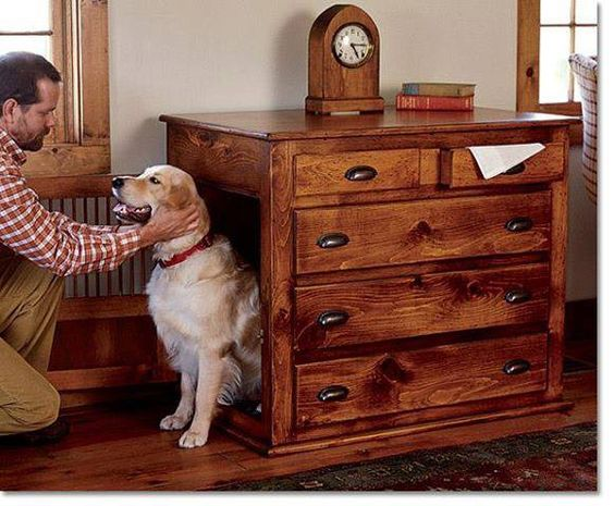 7 Creative Ways To Turn Old Furniture Into Adorable Pet Beds _ dog dresser _ all created