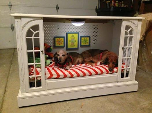7 Creative Ways To Turn Old Furniture Into Adorable Pet Beds _ tv cabinet _ all created