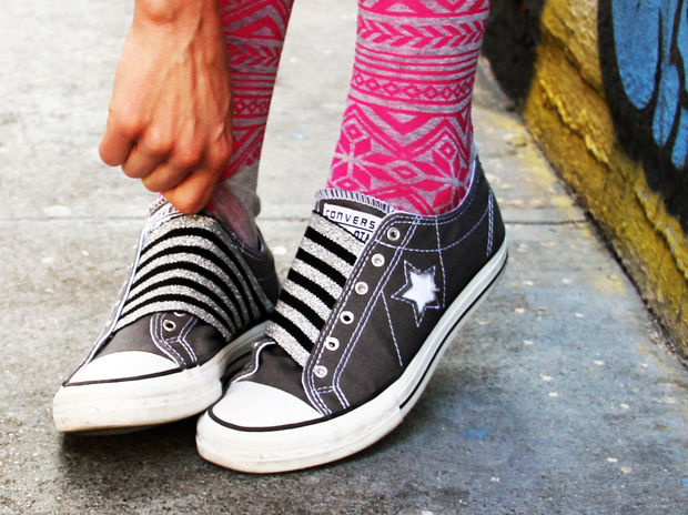12 DIY to Make Your Beat-up Shoes Look Cool Again _ elastic _ all created