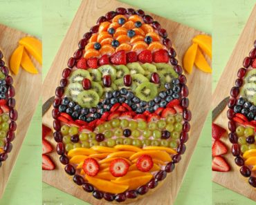 allcreated - Easter egg fruit pizza