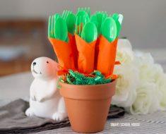 allcreated - carrot napkin utensil bundles