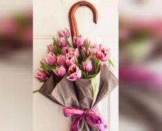 allcreated - flower and umbrella wreath