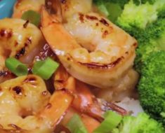 allcreated - honey garlic shrimp