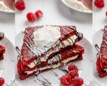 allcreated - red velvet french toast