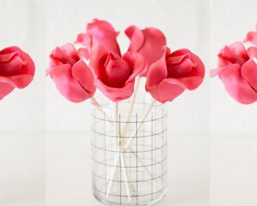 allcreated - rose cake pops