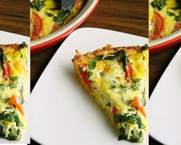 allcreated - tomato basil spinach quiche