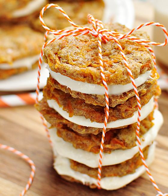 allcreated - carrot cake mini whoopie pies
