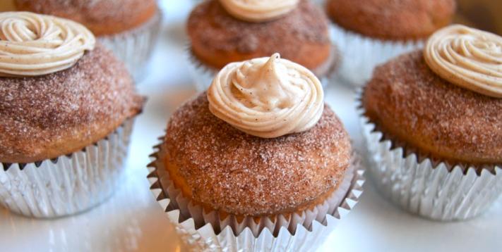 allcreated - churro cupcakes