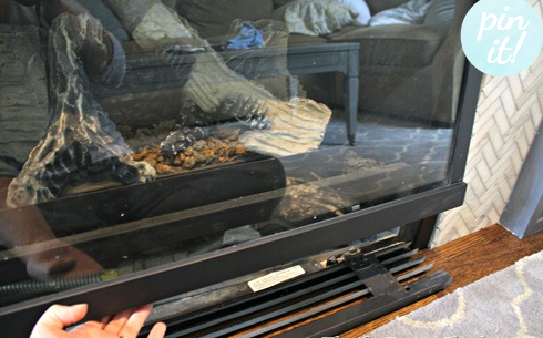 easy steps to clean inside fireplace glass to make it sparkle